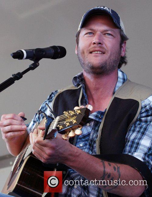 Blake Shelton ACM USO Concert at Nellis Air...