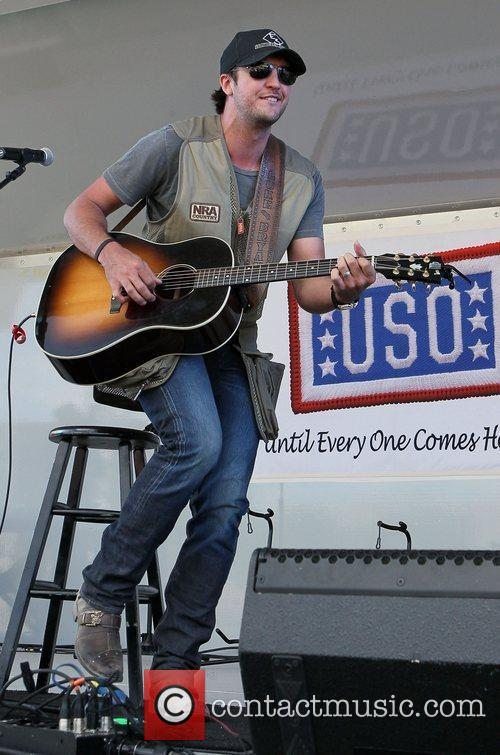 Luke Bryan ACM USO Concert at Nellis Air...