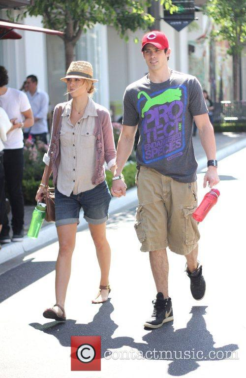 Holding hands at The Grove in West Hollywood