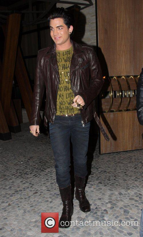 Adam Lambert leaves Red O restaurant in Beverly...