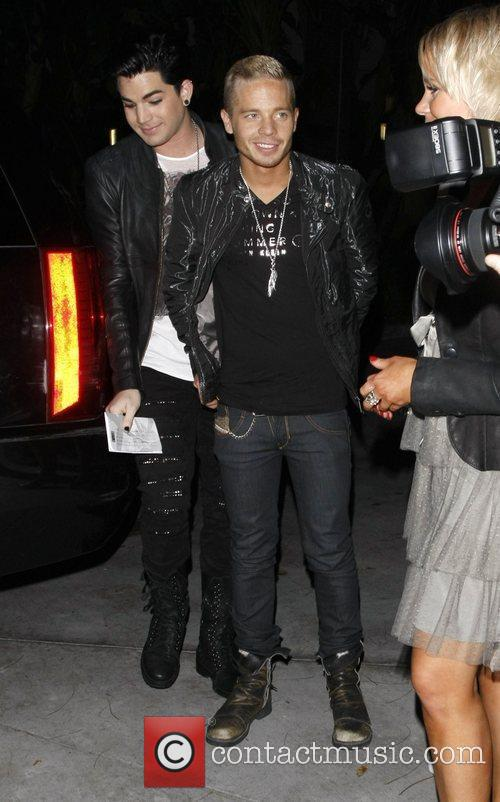 Adam Lambert and Sauli Koskinen arrive at the...