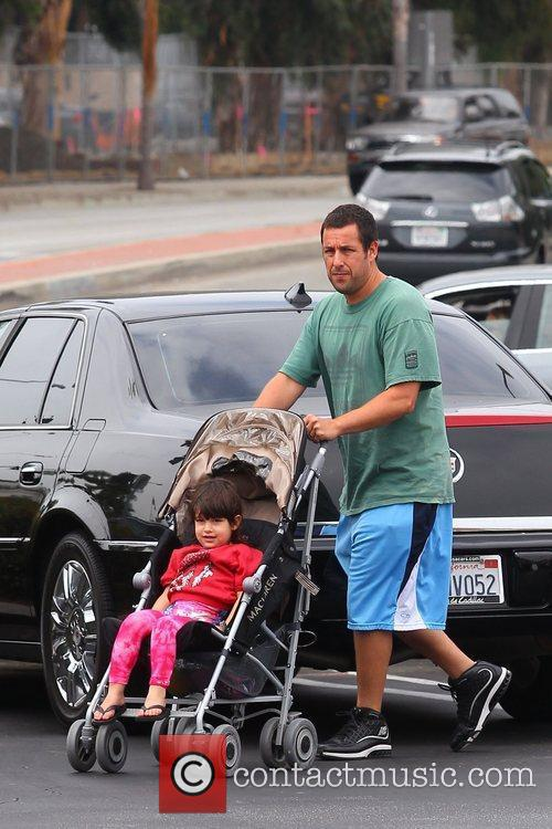 Adam Sandler and his daughter out and about...