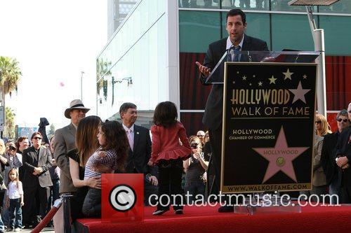 American Hollywood comedy actor and producer Adam Sandler...