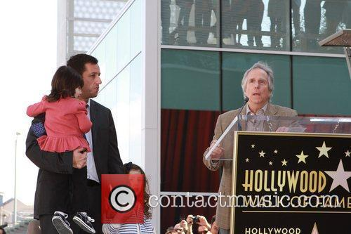 Adam Sandler, his children and Henry Winkler American...