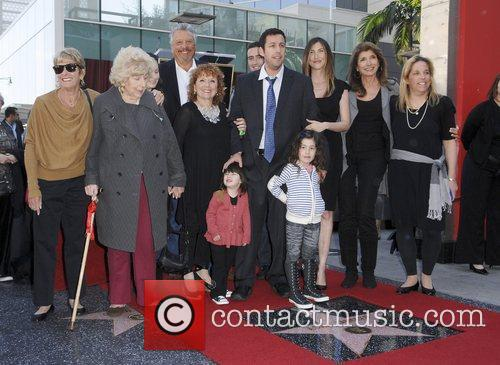 Adam Sandler with his family American Hollywood comedy...