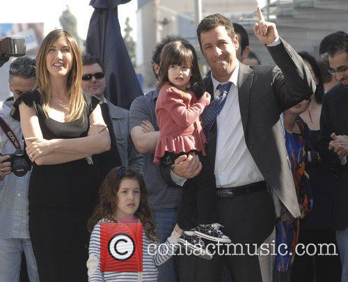 Adam Sandler with his wife Jackie and daughters...