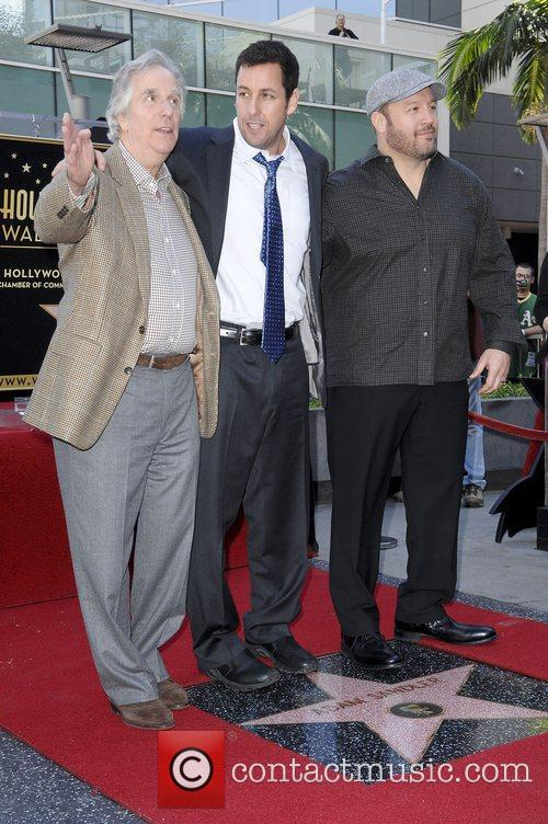 Henry Winkler, Adam Sandler and Kevin James 3