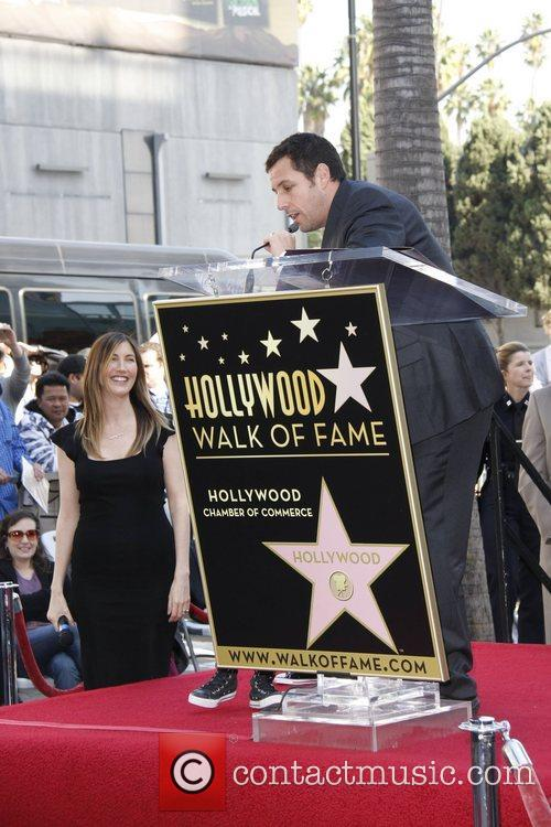 Jackie and Adam Sandler American Hollywood comedy actor...