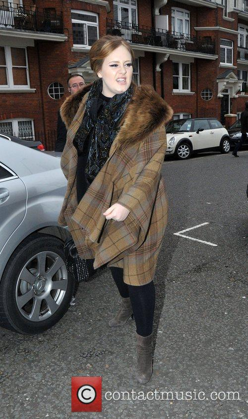 Adele arrives at BBC Maida Vale studios for...