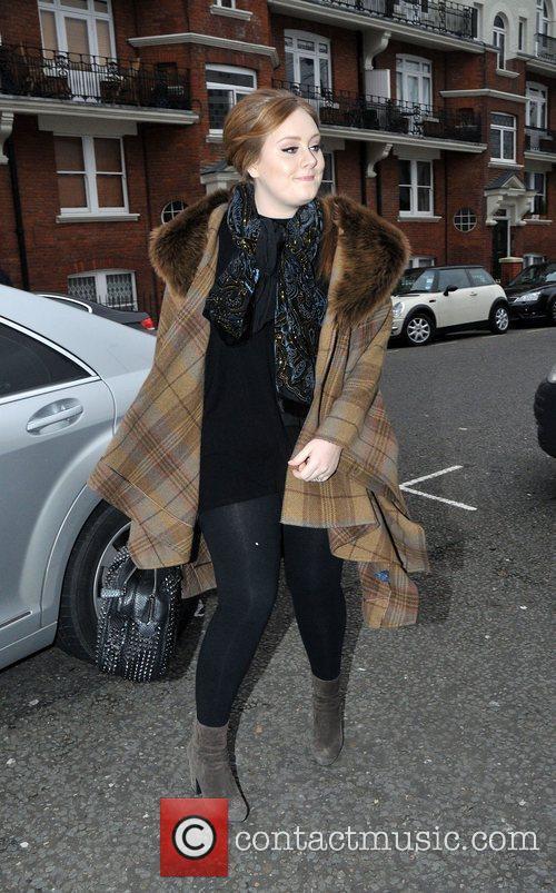 Adele arrives at BBC Maida Vale studios for...