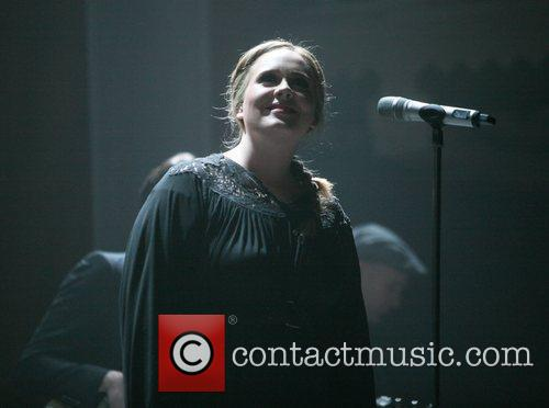 Adele performing live at the Paradiso Amsterdam, Netherlands