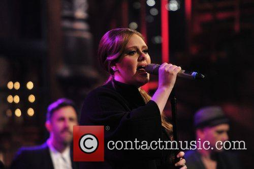 Adele performs live on 'The Late Show with...