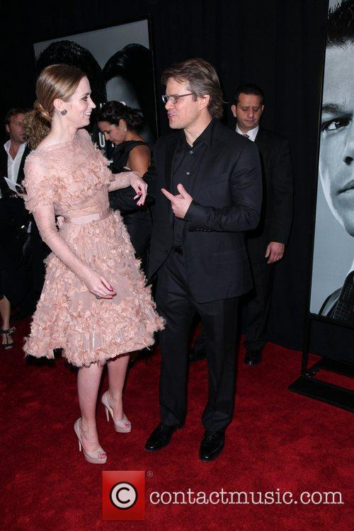 Emily Blunt and Matt Damon 4