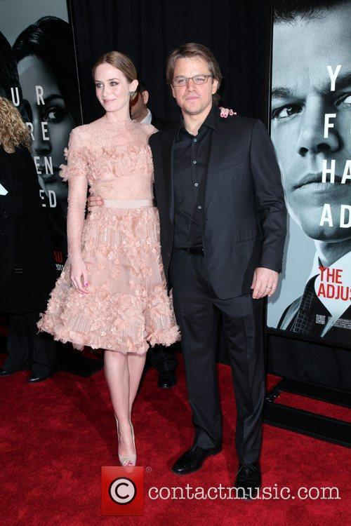 Emily Blunt and Matt Damon 7