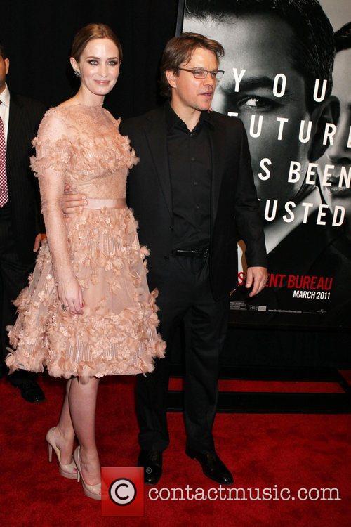 Emily Blunt and Matt Damon 6