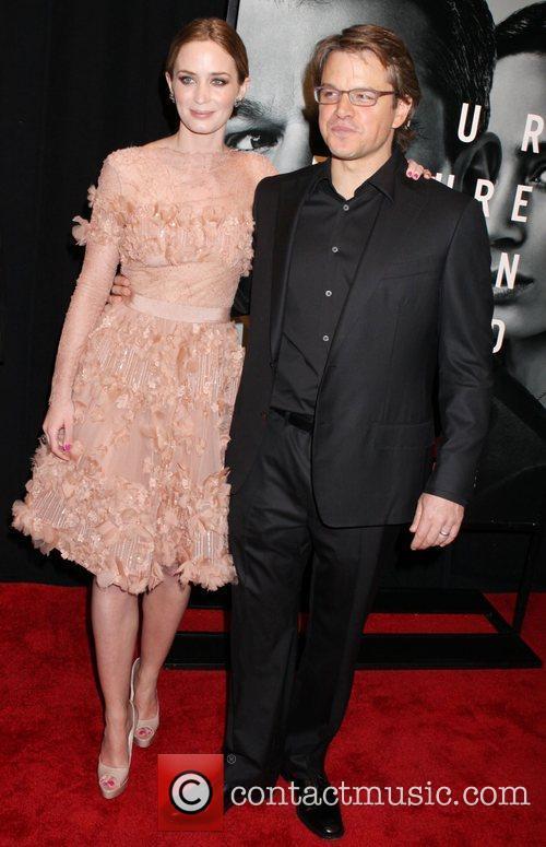 Emily Blunt and Matt Damon 7