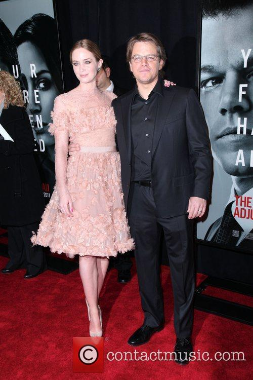 Emily Blunt, Matt Damon, Ziegfeld Theatre