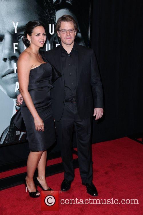 Luciana Barroso and Matt Damon 2