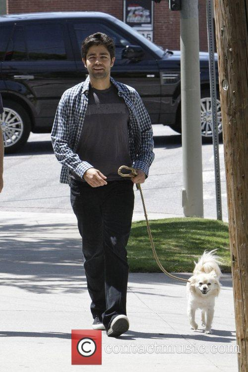 Out walking his dog in Los Feliz