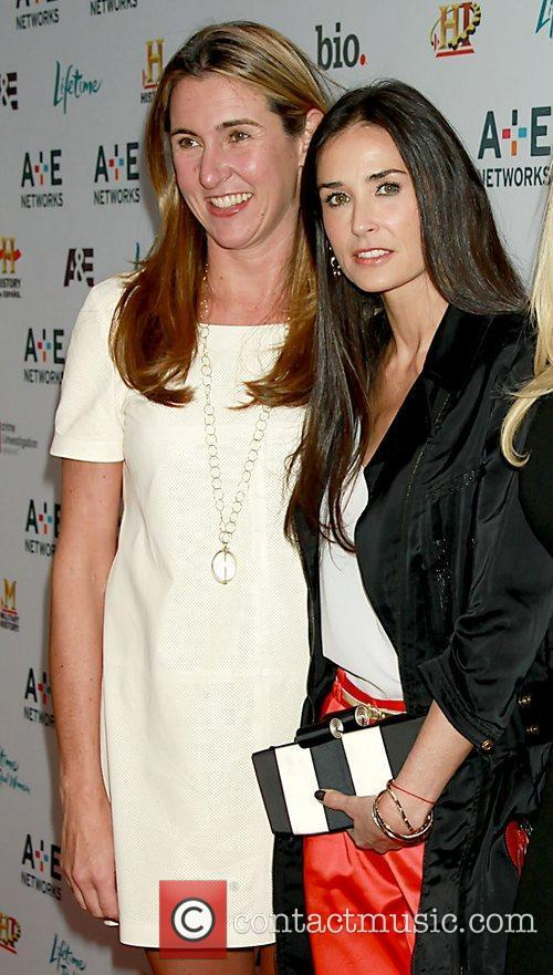Nancy Dubuc and Demi Moore A&E Television Networks...