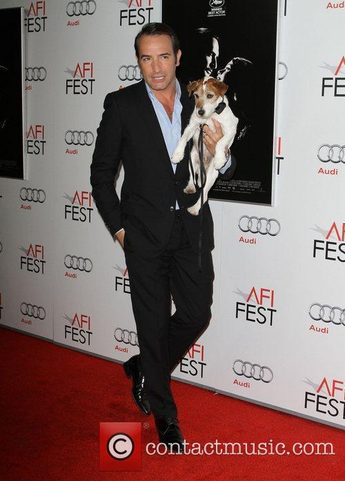 Jean Dujardin and Uggie AFI Fest 2011 Premiere...