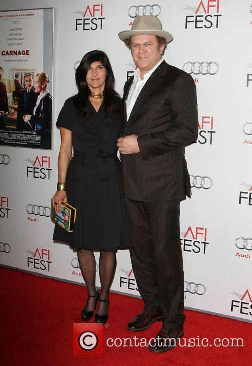 John C. Reilly and wife Alison Dickey at...