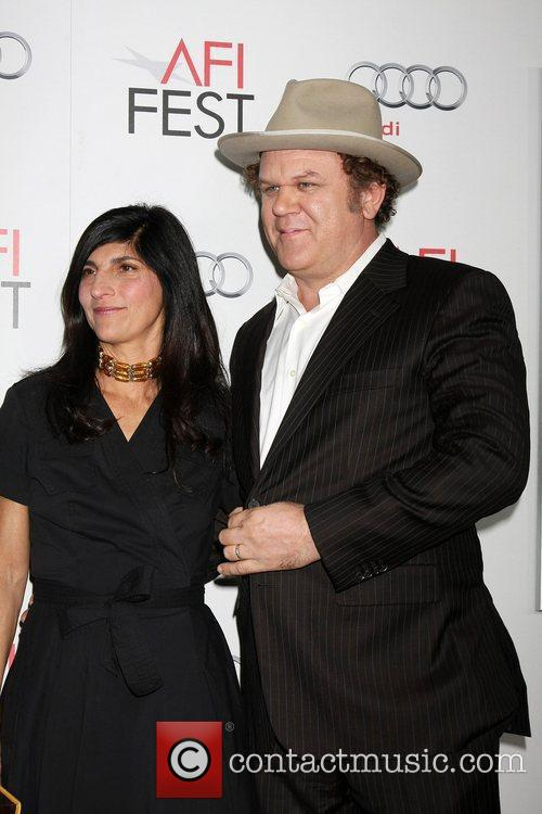 Alison Dickey, John C Reilly and Grauman's Chinese Theatre