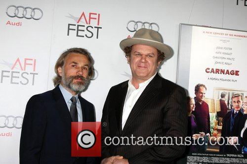 Christoph Waltz, John C Reilly and Grauman's Chinese Theatre 11