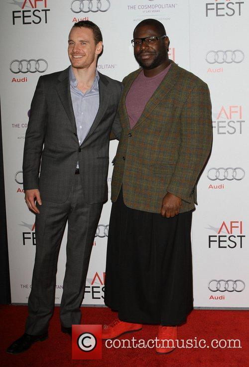 Michael Fassbender, Steve Mcqueen and Grauman's Chinese Theatre 2
