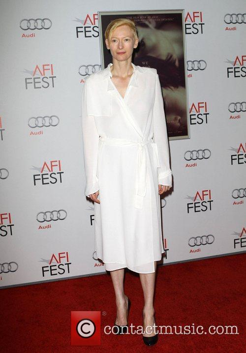 Tilda Swinton and Grauman's Chinese Theatre 13