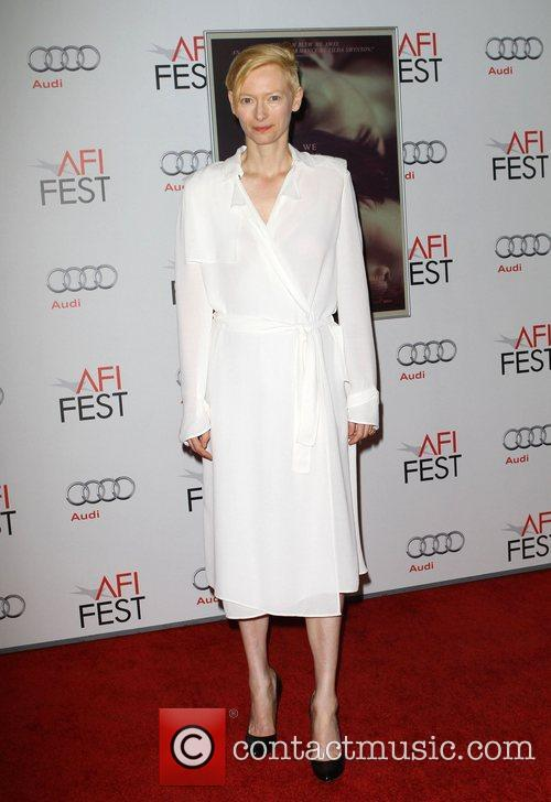 Tilda Swinton and Grauman's Chinese Theatre 11