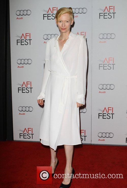 Tilda Swinton and Grauman's Chinese Theatre 12