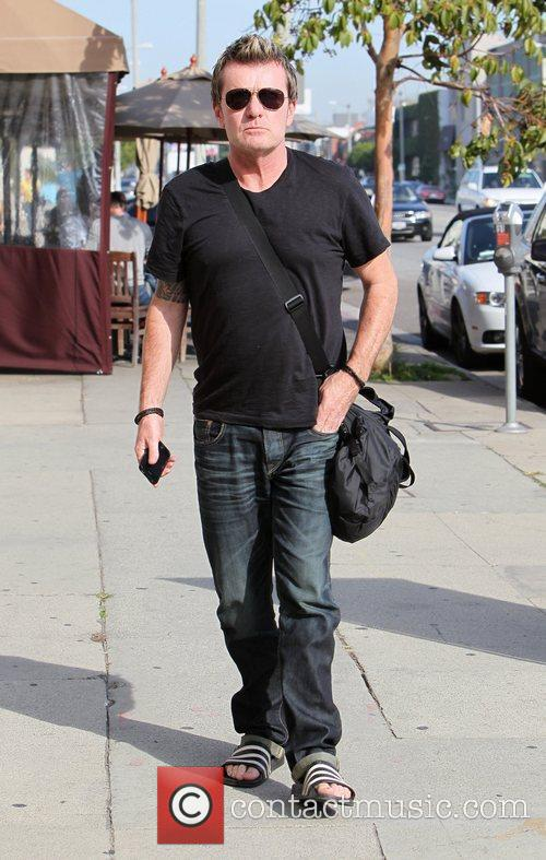Billy Duffy arrives at Kings Road Cafe in...
