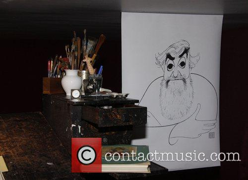 Al Hirschfeld Permanent Installation Reception and Unveiling held...