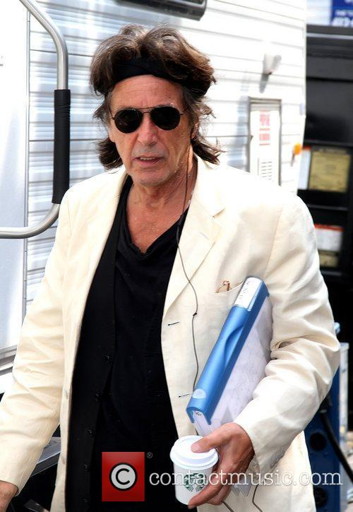 Al Pacino leaving his trailer on the set...