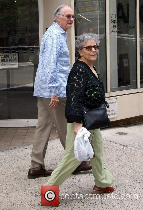 Alan Alda and his wife Arlene Weiss out...