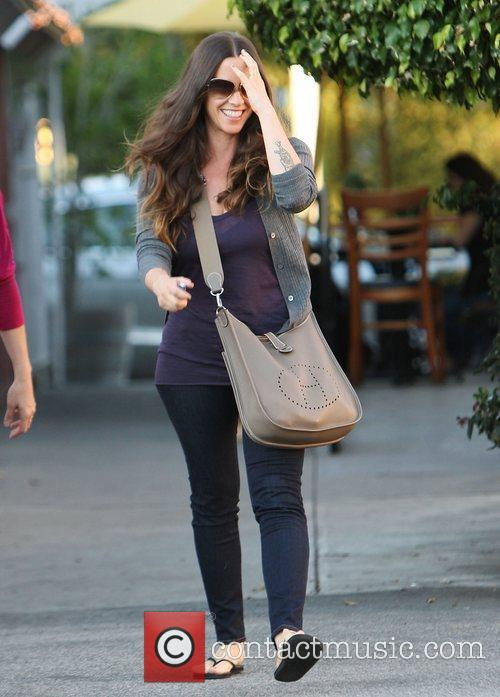 Alanis Morissette out and about in Brentwood.