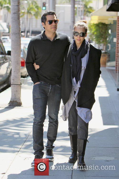 Walking arm-in-arm in Beverly Hills