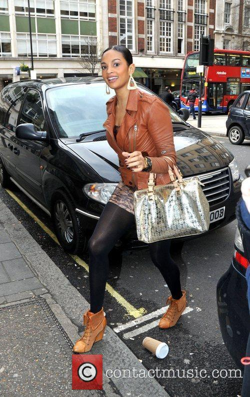 Alesha Dixon  arriving at the BBC Radio...