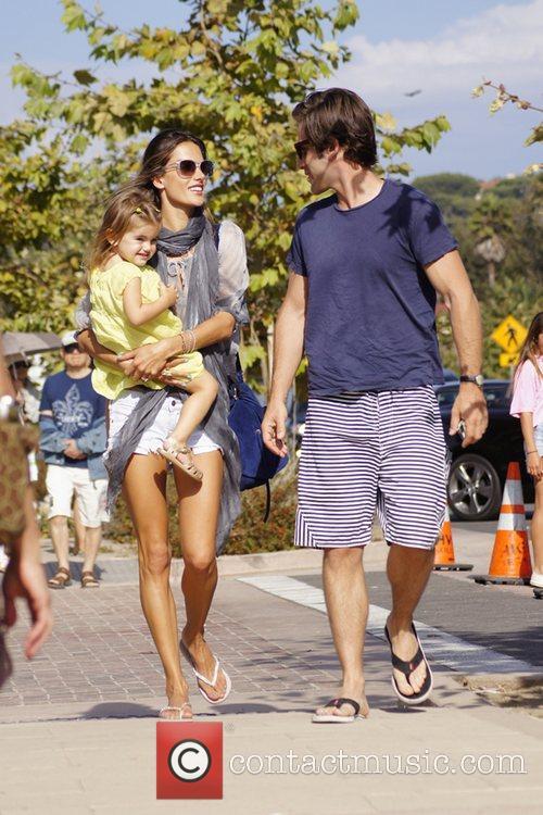 Alessandra Ambrosio, partner Jamie Mazur and their daughter...