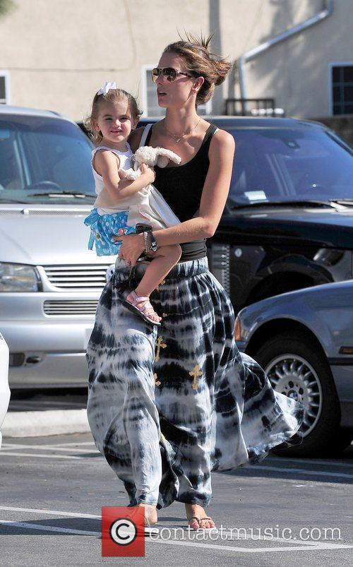 Alessandra Ambrosio and her daughter Anja Louise Ambrosio...