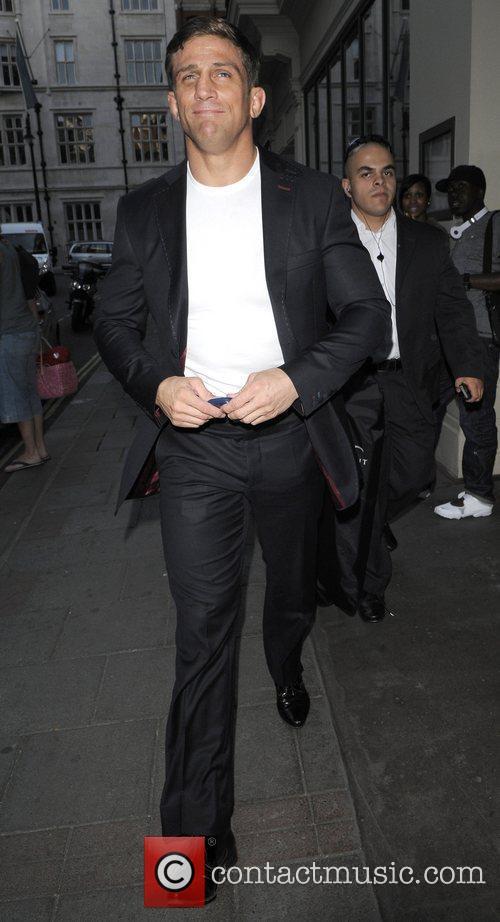 Alex Reid outside the Mayfair hotel London, England
