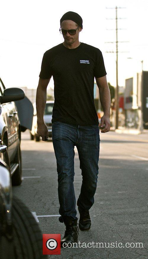 Returns to his car after having lunch with...