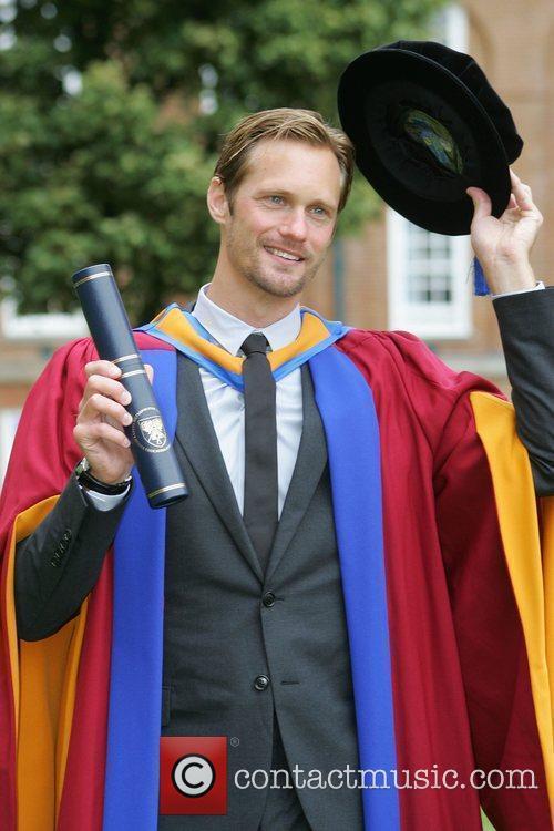 Alexander Skarsgard receives an honorary degree in the...