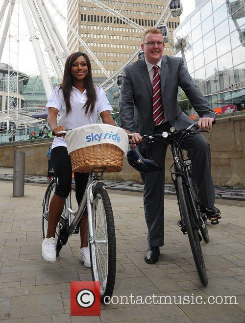 Alexandra Burke and Councilor Nigel Murphy launch Sky...