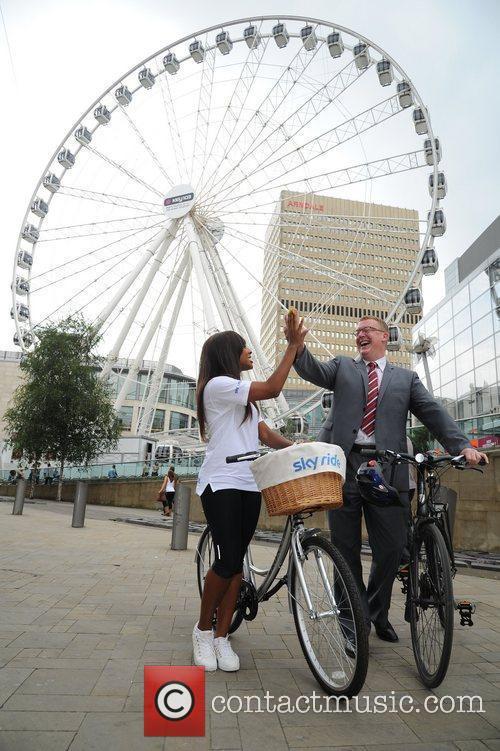 Alexandra Burke and Councilor Nigel Murphy launches Sky...