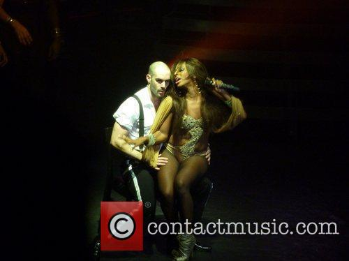 Alexandra Burke  performing live on stage in...