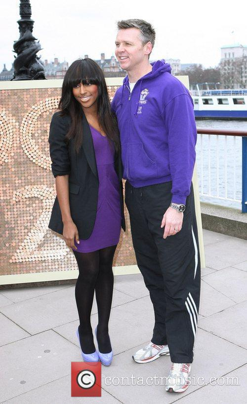 British pop sensation Alexandra Burke competes against Olympian...