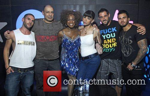 Alexis Houston backstage at Super Love Soho Pink...