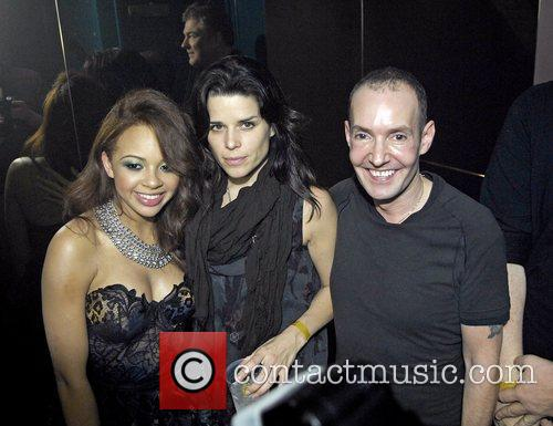 Alexis Jordan with Neve Campbell and G-A-Y owner...